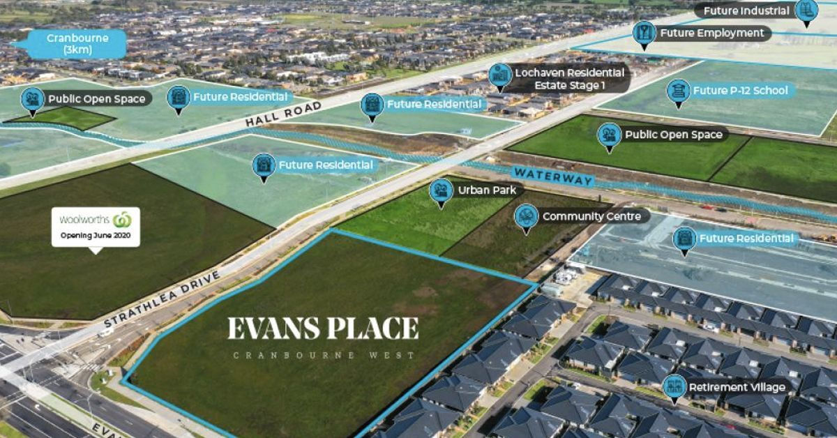Evans Place Cranbourne West; 1.32 Ha Approved Mixed-Use Development Opportunity For Sale