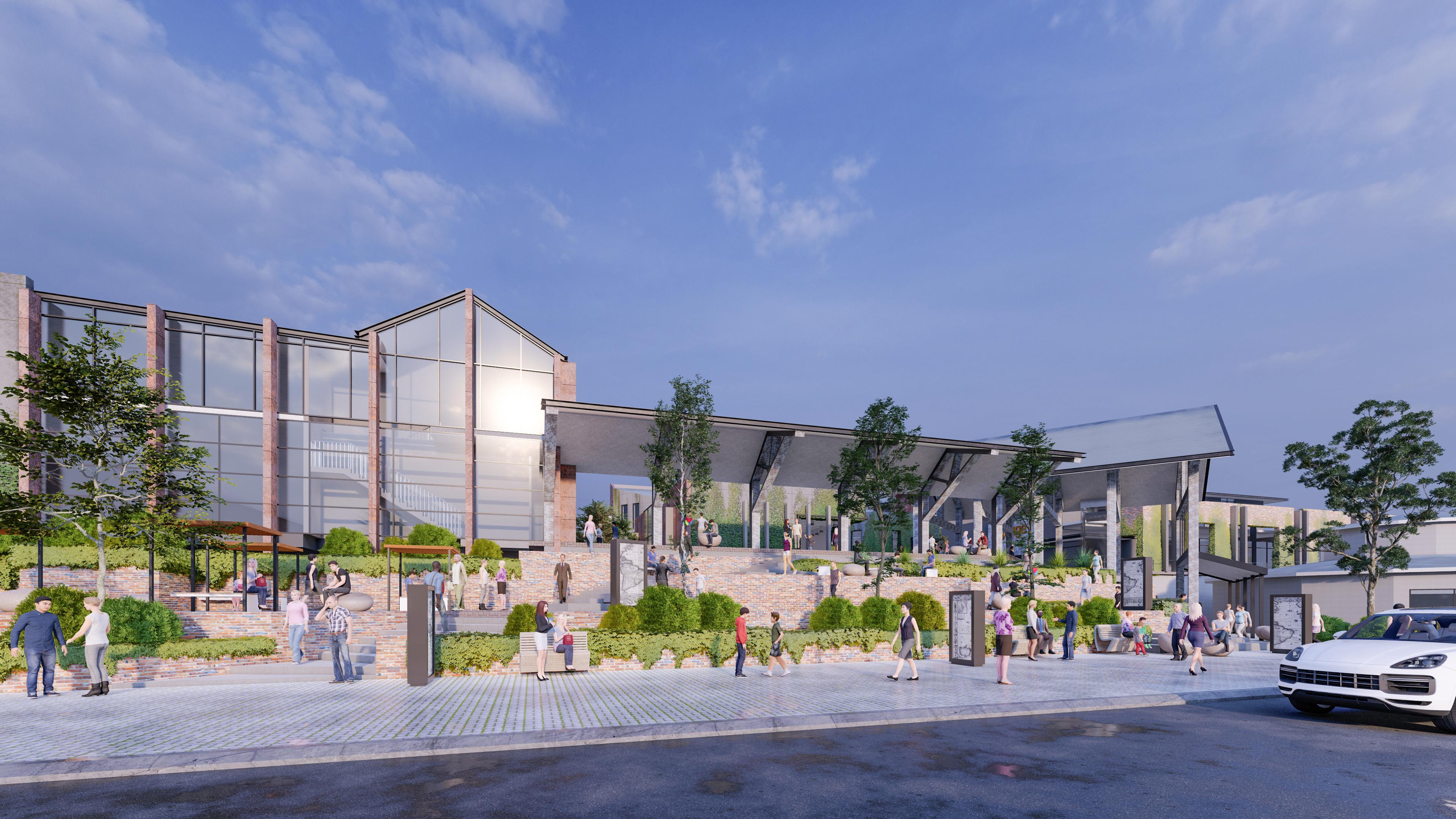 CGI Development Concept of the Stockyards of Camden