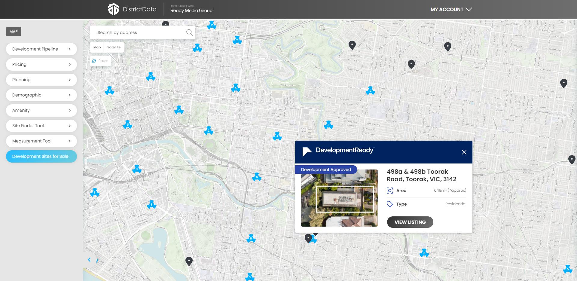 DD map search